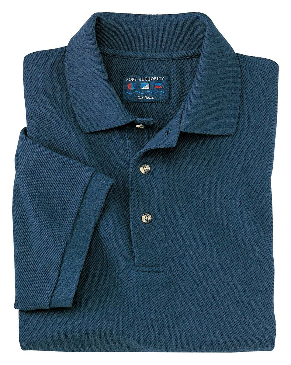 Port Authority Men's Big And Tall Knit Polo Shirt_Navy_XL Tall