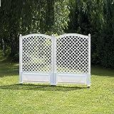 Rank- und Sichtschutz-Spalier 2er Set 140 cm hoch, 2x100 cm breit, weiß