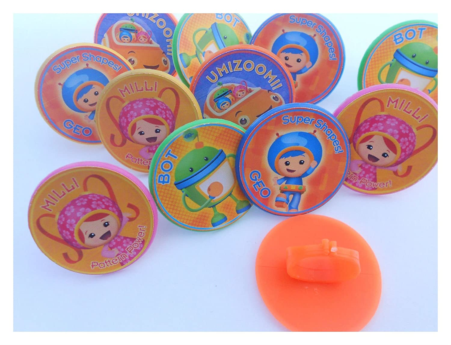 12 Team Umizoomi Rings Cupcake Toppers
