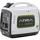 Atima SD2000i Tragbarer Inverter Benzin Stromgenerator Stromerzeuger Lauf.1600W/Max.2000W