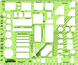 Rapidesign 1/2 Inch ABC Architect Drawing Template, 1 Each (R22B)
