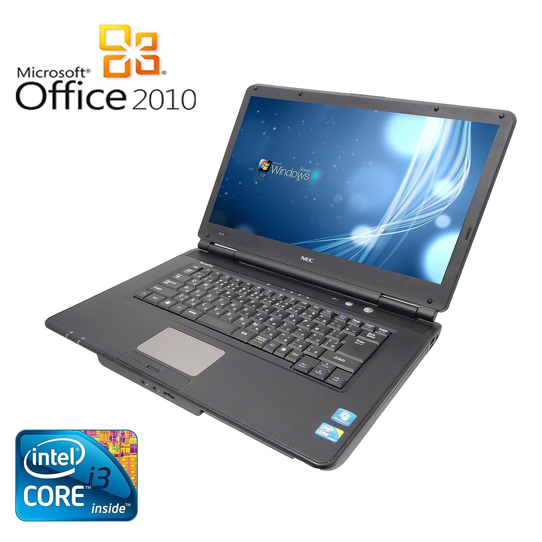 【Microsoft Office 2010搭載】【Win 7搭載】NEC VY22G/X-A/新世代Core i3 2.26GHz/メモリ2GB/HDD160GB/大画面15.6インチ/無線LAN搭載/中古ノートパソコン   B01D4QVVFY