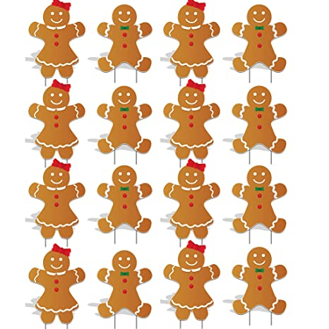 Victory Store Yard Sign Outdoor Lawn Decorations Gingerbread People Pathway Markers Christmas Yard Decorations