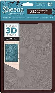 5 x 7 Transparent Gemini GEM-EF5-3D-BW 5x7 3D Embossing Folders-Basket Weave
