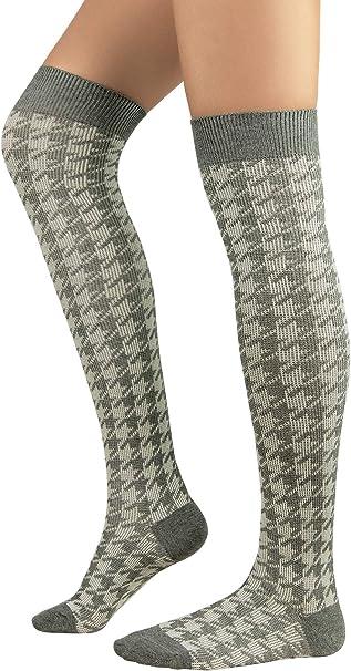 Durio Kniestr/ümpfe Damen Wei/ß Overknee Str/ümpfe /Überknie M/ädchen Str/ümpfe Extra Lange Gestreifte Socken mit 3 Streifen