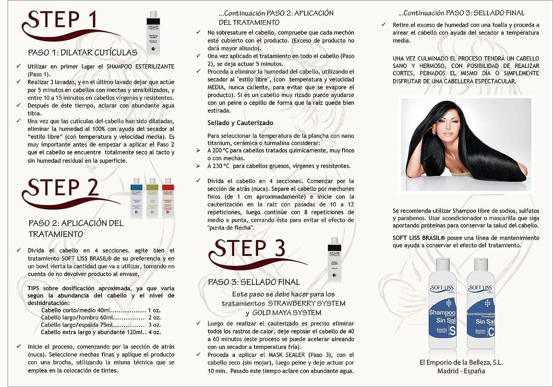 CIRUGIA CAPILAR (sin formol) DIAMANTE LASER de 4 onzas (118 ml) TRATAMIENTO DE ALISADO BRASILEÑO: Amazon.es: Belleza