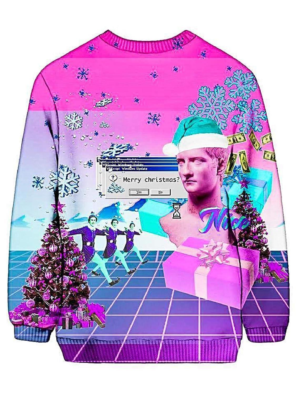 Vaporwave Christmas Sweater.Noctum X Truth Vaporwave Ugly Christmas Sweatshirt Front