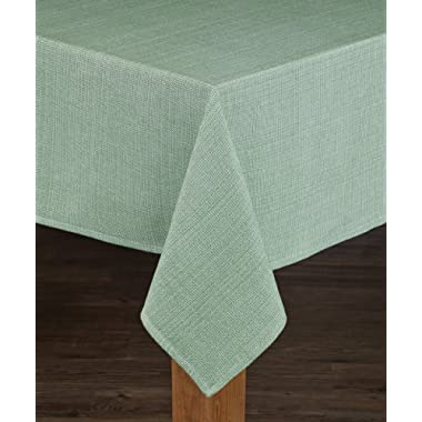 HomeCrate Elegant Rio Collection, Chambray Tablecloth - 60  x 84  - In Sage