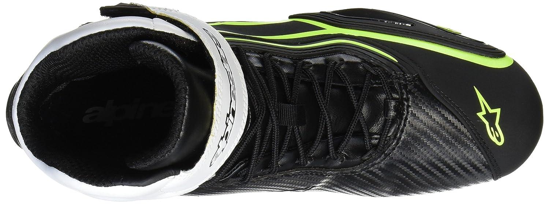 Zapatillas Alpinestars Faster 2 Waterproof negro blanco amarillo neón 39: Amazon.es: Coche y moto