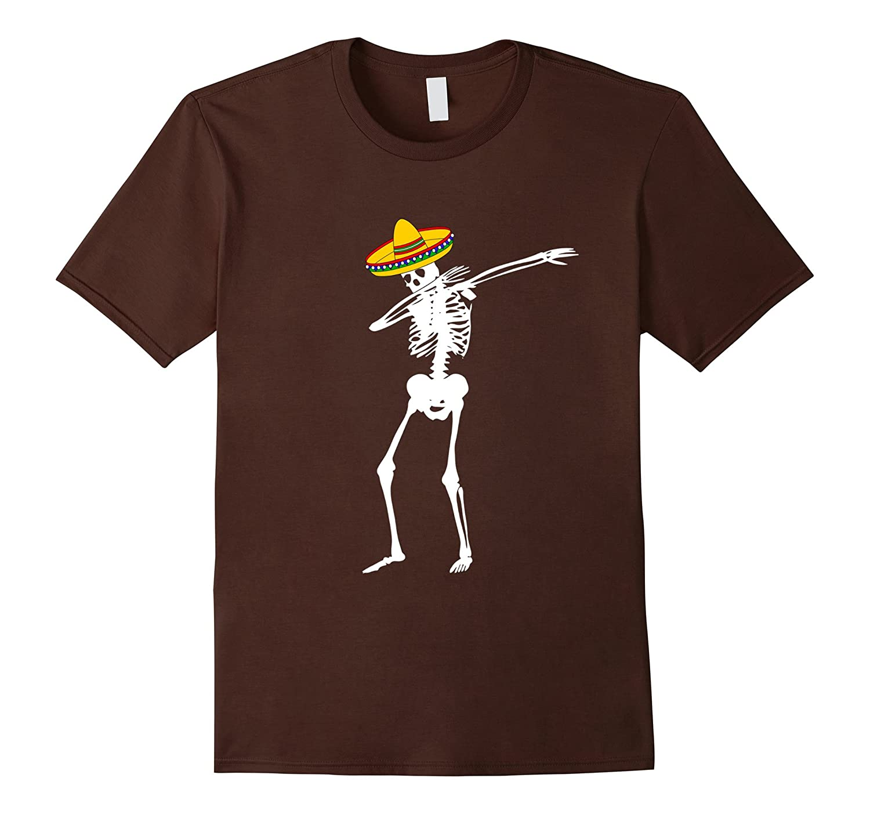 Mexican Skeleton Cinco de Mayo Dabbing T-Shirt