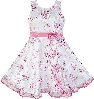 Sunny Fashion Vestito Bambina 3 Livelli Girasole Onda Pageant Damigella d'Onore Bambini Capi di Abbigliamento 4-12 Anni