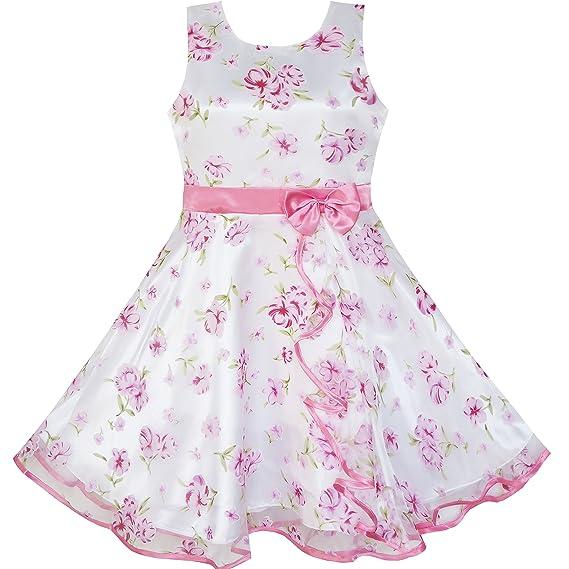7274745e9efc SUNNY FASHION 3 Layers Girls Dress Sunflower Wave Pageant Bridesmaid ...