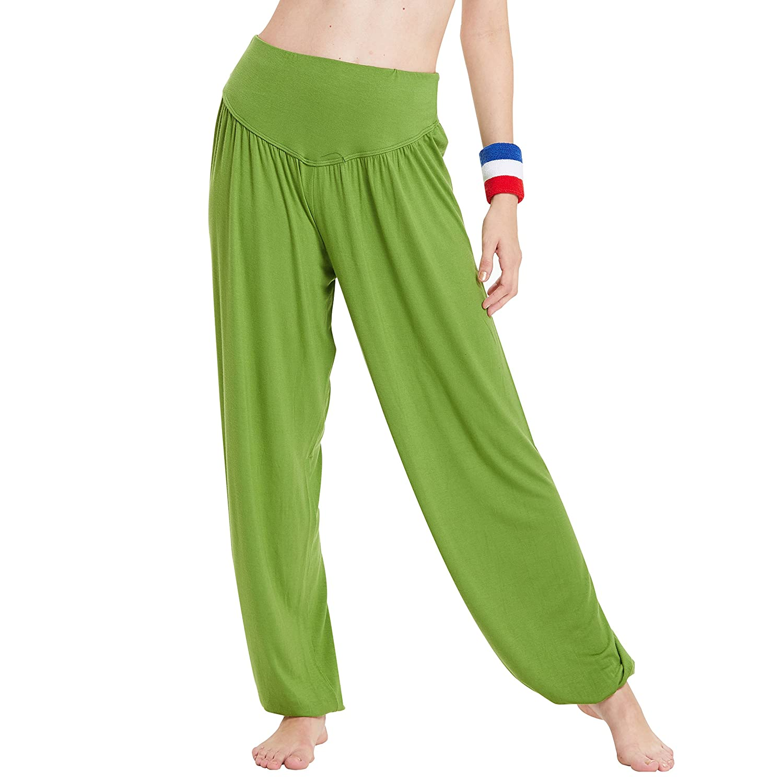8d927fdf8a Top3: HANERDUN Womens Modal Soft Elastic Waistband Fitness Yoga Harem Pants