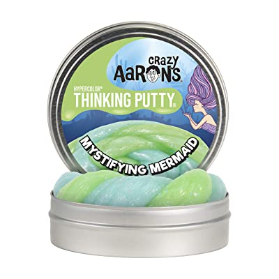"Crazy Aaron's Thinking Putty 4"" Tin - Mystifying Mermaid Hypercolor - Color Changing Putty, Firm Texture - Never Dries Out: Toys & Games"