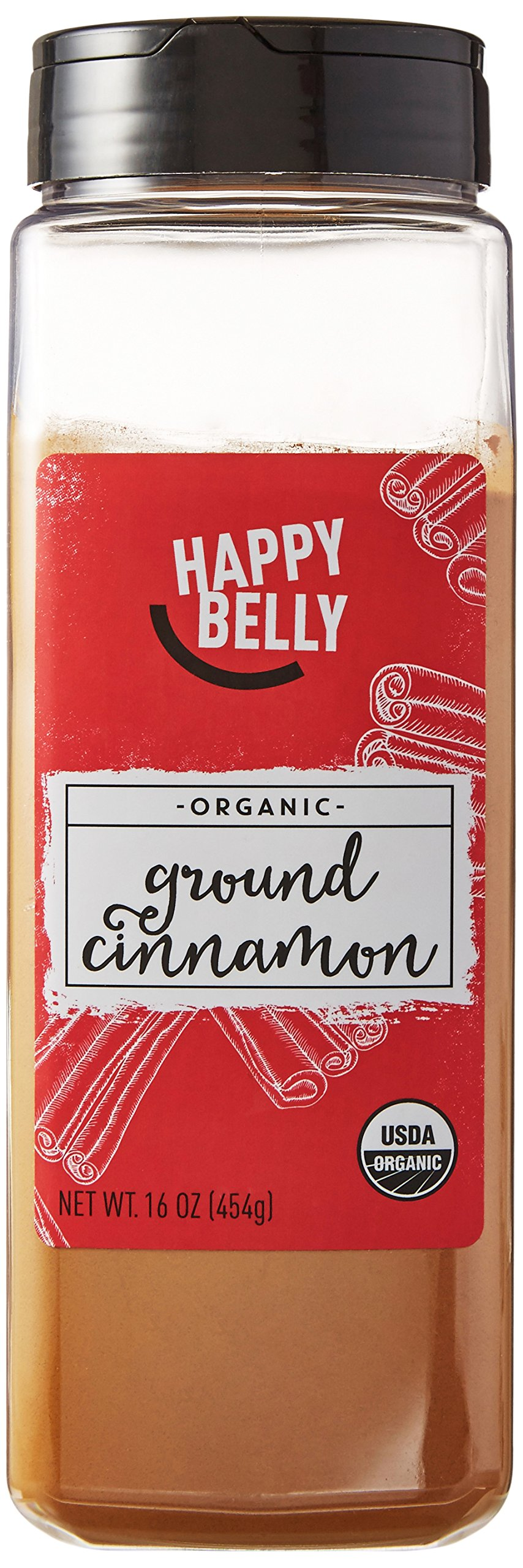 Amazon Brand - Happy Belly Organic Cinnamon, Ground, 16-Ounce