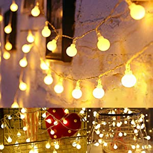 Christmas Lights for Bedroom, Globe String Lights 19.6 ft 40 LED Fairy Lights Battery Operated for Garden Wedding Party Decor Indoor Outdoor Ball String Lights, Warm White