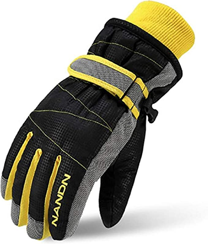 Women Kids Winter Waterproof Ski Gloves Fluffy Plush Anti-Slip Insulated Sport Q