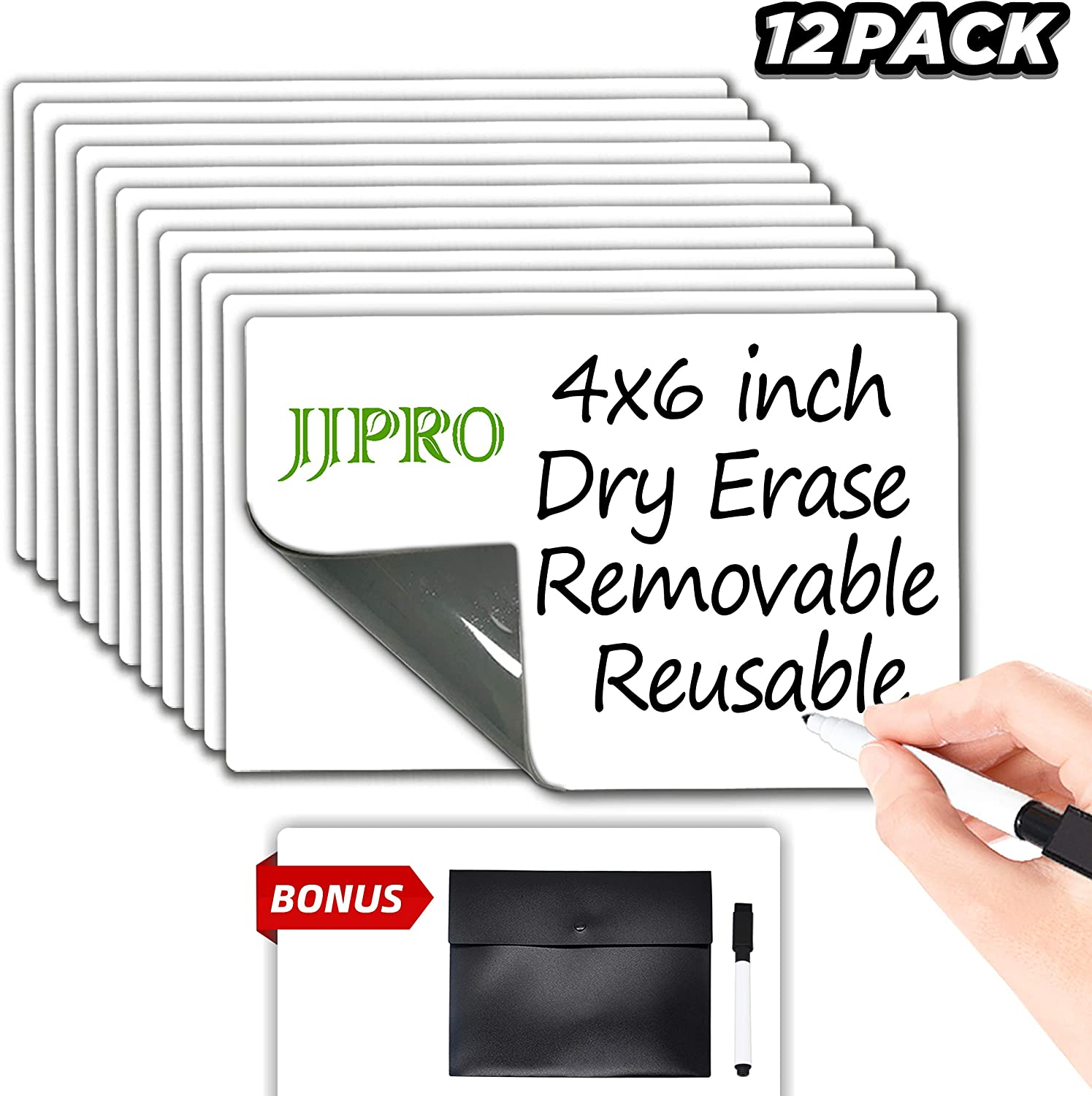 Dry Erase Sticky Notes - Reusable Whiteboard Stickers 4