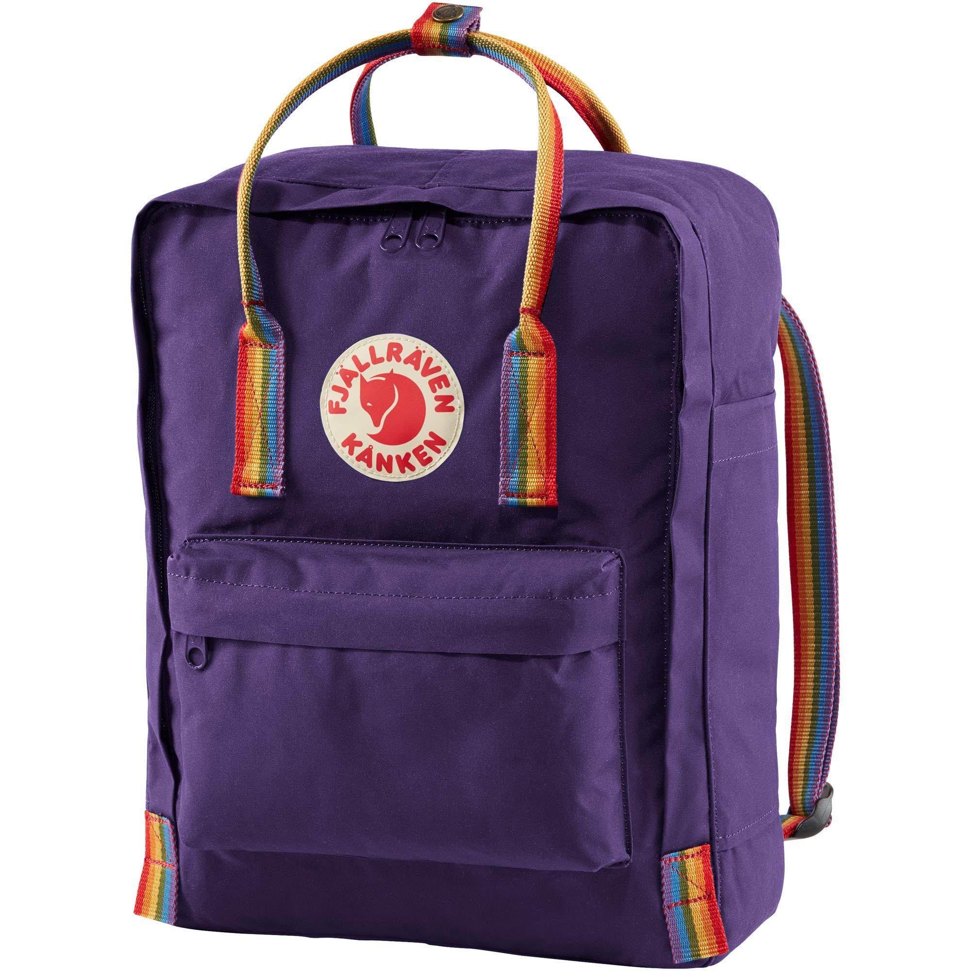 Fjallraven Women's Kanken Backpack, Purple/Rainbow, One Size