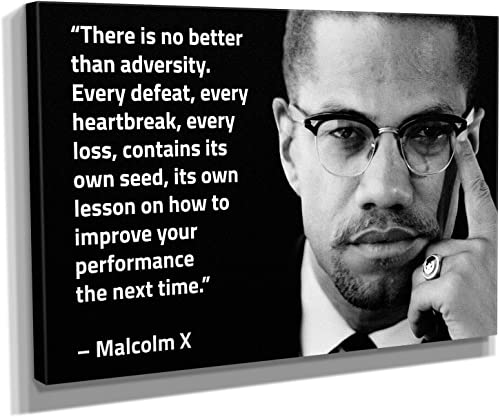 Malcolm X Quote Canvas Art Wall Art Home Decor 45in x 30in Gallery Wrapped