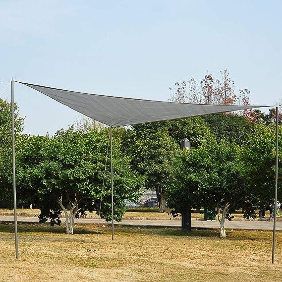 Outsunny - Toldo Vela triangulo (Varios tamaños y Colores), tamaño 4x4x4m, Color Gris: Amazon.es: Jardín