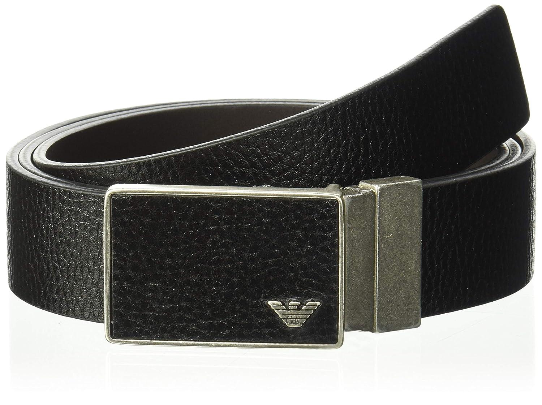 de24bcd973 Emporio Armani Men's Designer Belt Gift Box, Black, One Size: Amazon ...