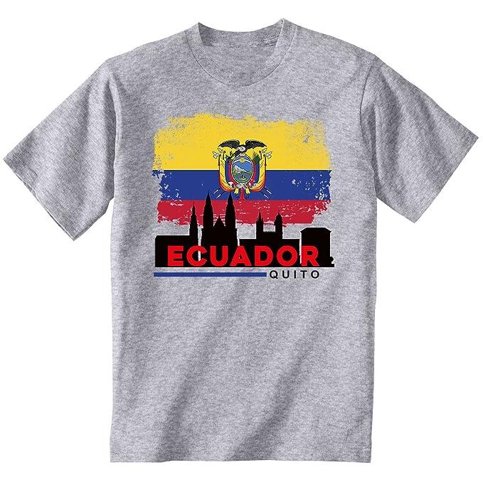 teesquare1st QUITO ECUADOR Camiseta Gris para hombre de algodonSize Medium