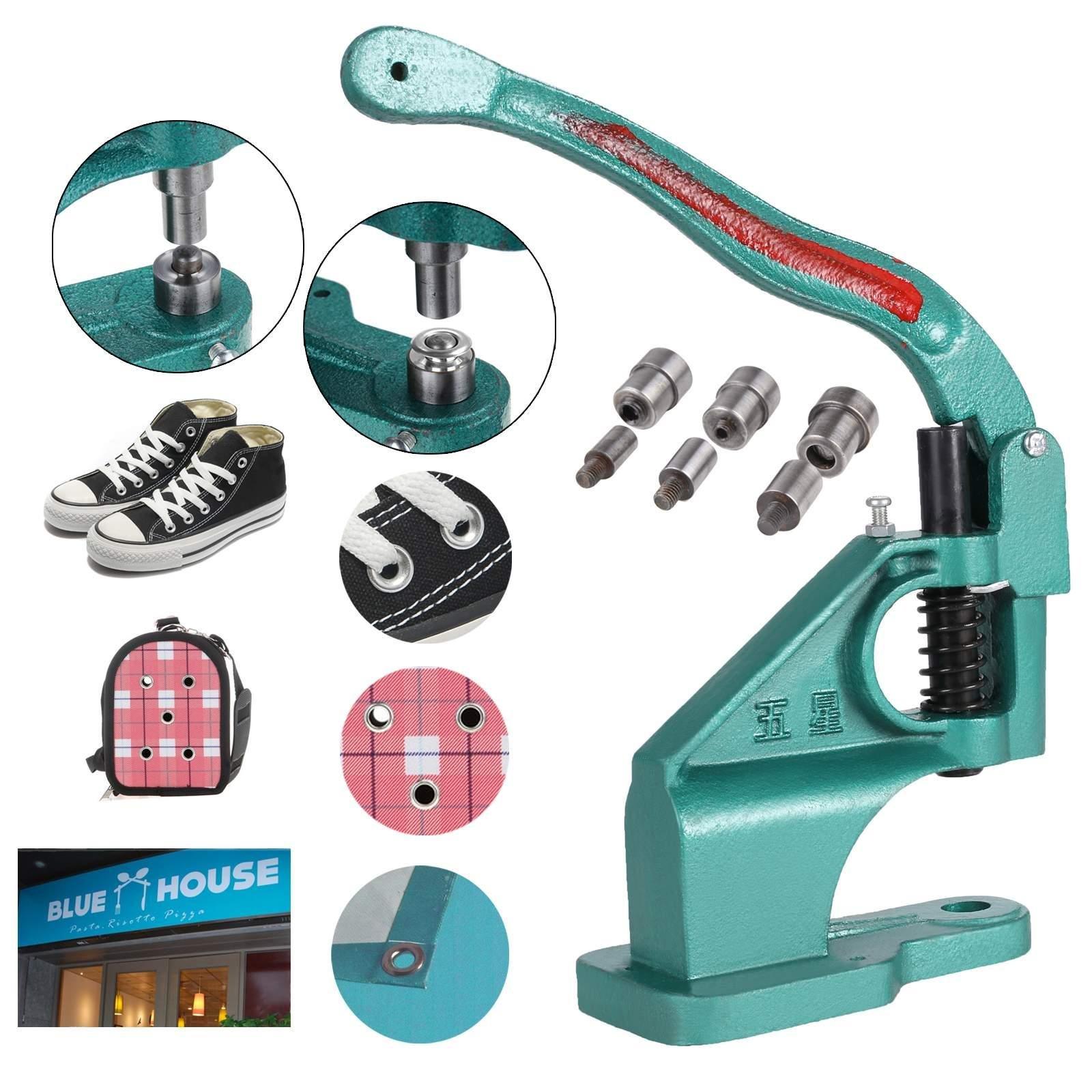 Rapesee Hand Grommet Machine 3 Die (#0#2#4) Manual Grommet Press Punch Tool Kit Eyelet Press Machine with 900 Grommets
