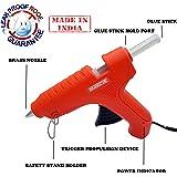Cheston Leakproof Hot Melt Glue Gun 60 Watt PTC Heat Technology Trigger Feed with 2 Glue Sticks (Orange)