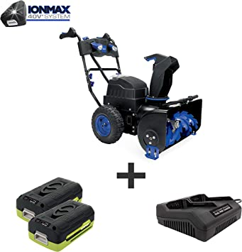 Snow Joe ION8024-XRP 80-Volt iONMAX Cordless 2 Stage Dual Battery Snow Blower Kit Renewed