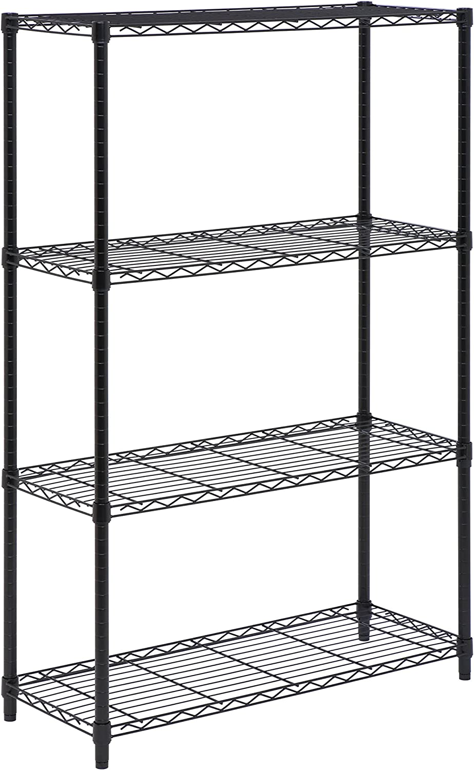 Honey-Can-Do SHF-03936 4-Tier Shelving Unit Rack with 350-Pound Capacity, 14 x 36 x 54-Inch,Black