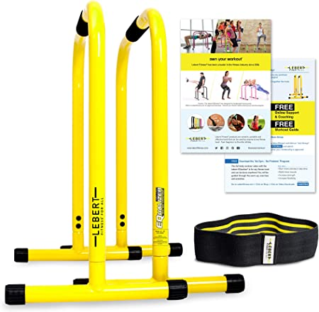 side facing lebert fitness equalizer dip bars