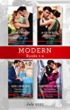 Modern Box Set 1-4 July 2020/The Italian in Need of an Heir/Vows to Save His Crown/Claiming His Unknown Son/Her Wedding Night Negotiation (Cinderella Brides for Billionaires)