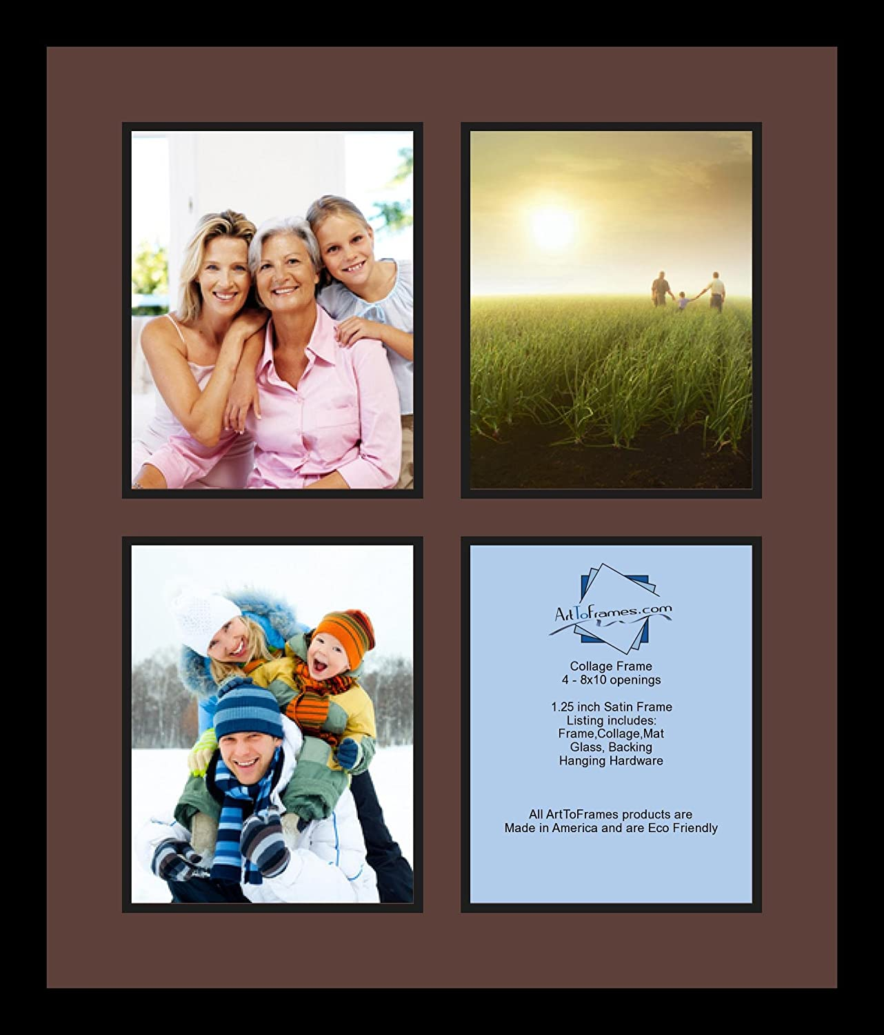 Amazoncom Arttoframes Collage Photo Frame Double Mat With 4