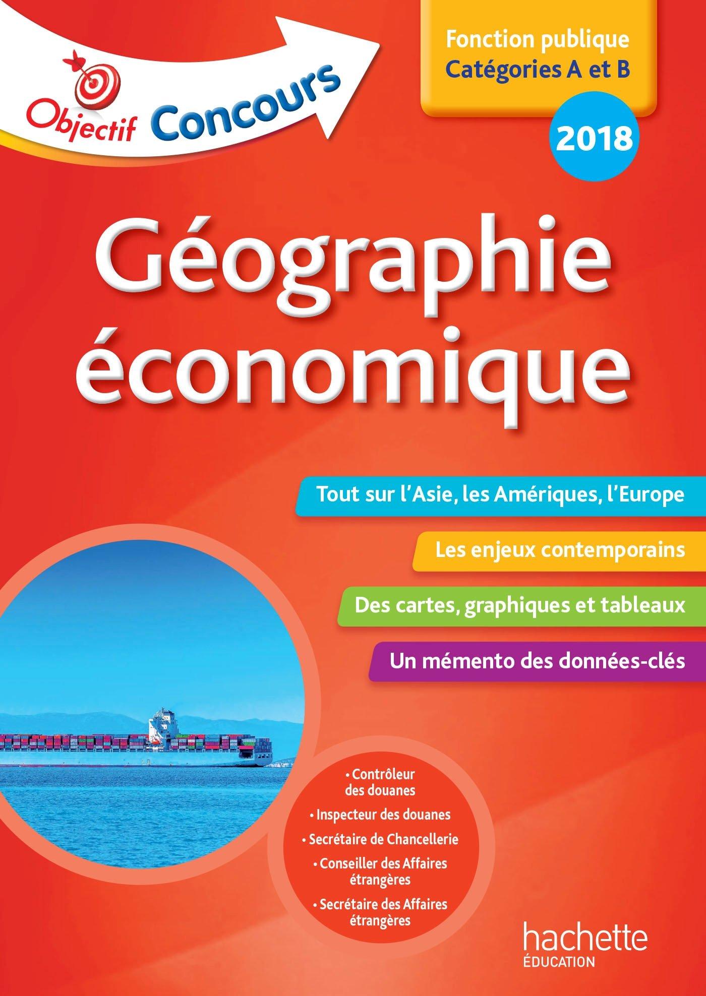 Carte De Lasie 2020.Amazon In Buy Objectif Concours Geographie Economique Cat A