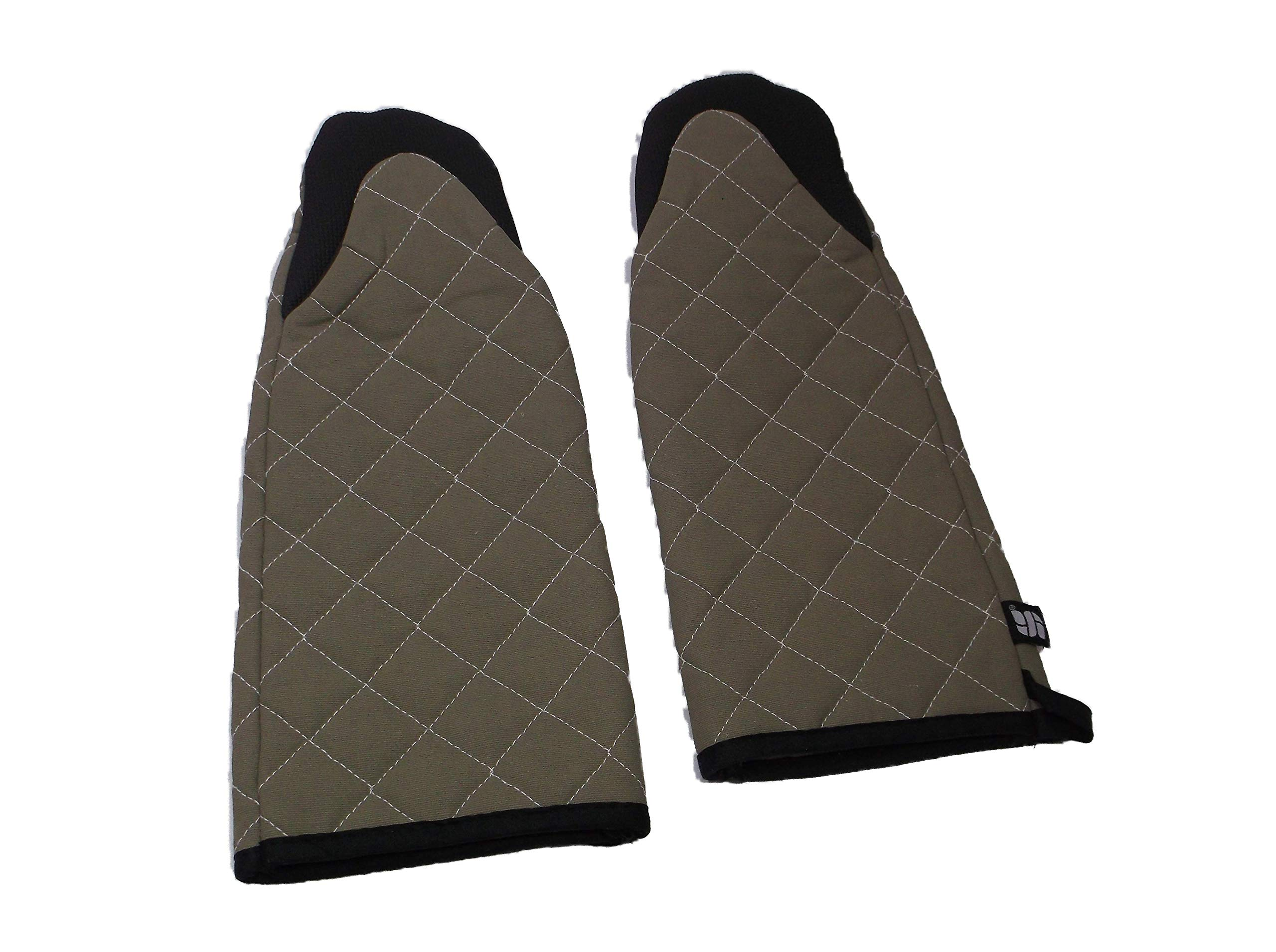San Jamar 810PM17 Set of 2 - (2) Puppet Style Oven Mitts 17 inch 500 Degrees F Resistance Cotton Neoprene - Brand New, lot of 2 restaurant bakery