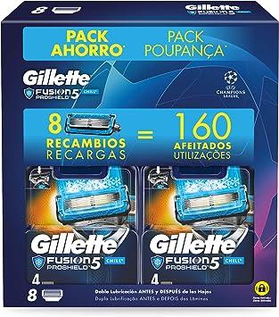 Gillette Proshield Chill - Cuchillas de Afeitar, Pack Ahorro ...