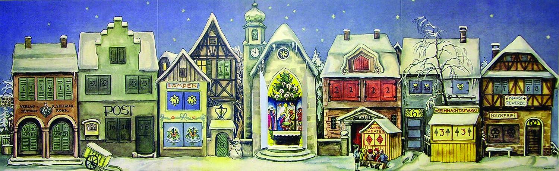 Calendario dellAvvento con nani e villaggio innevato Sellmer