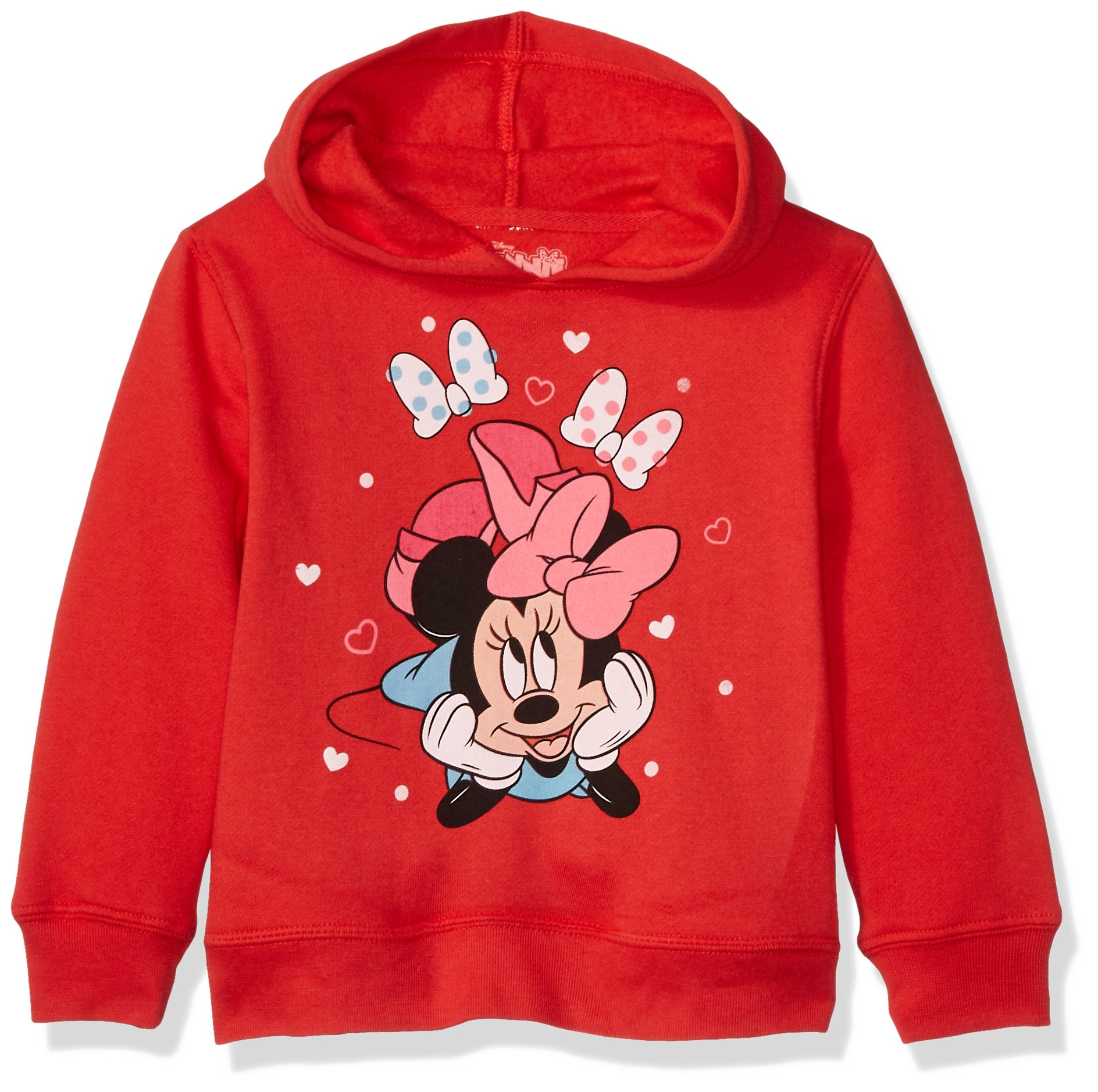 Disney Toddler Girls' Minnie Mouse Pullover Fleece, Minnie Bow, 4T