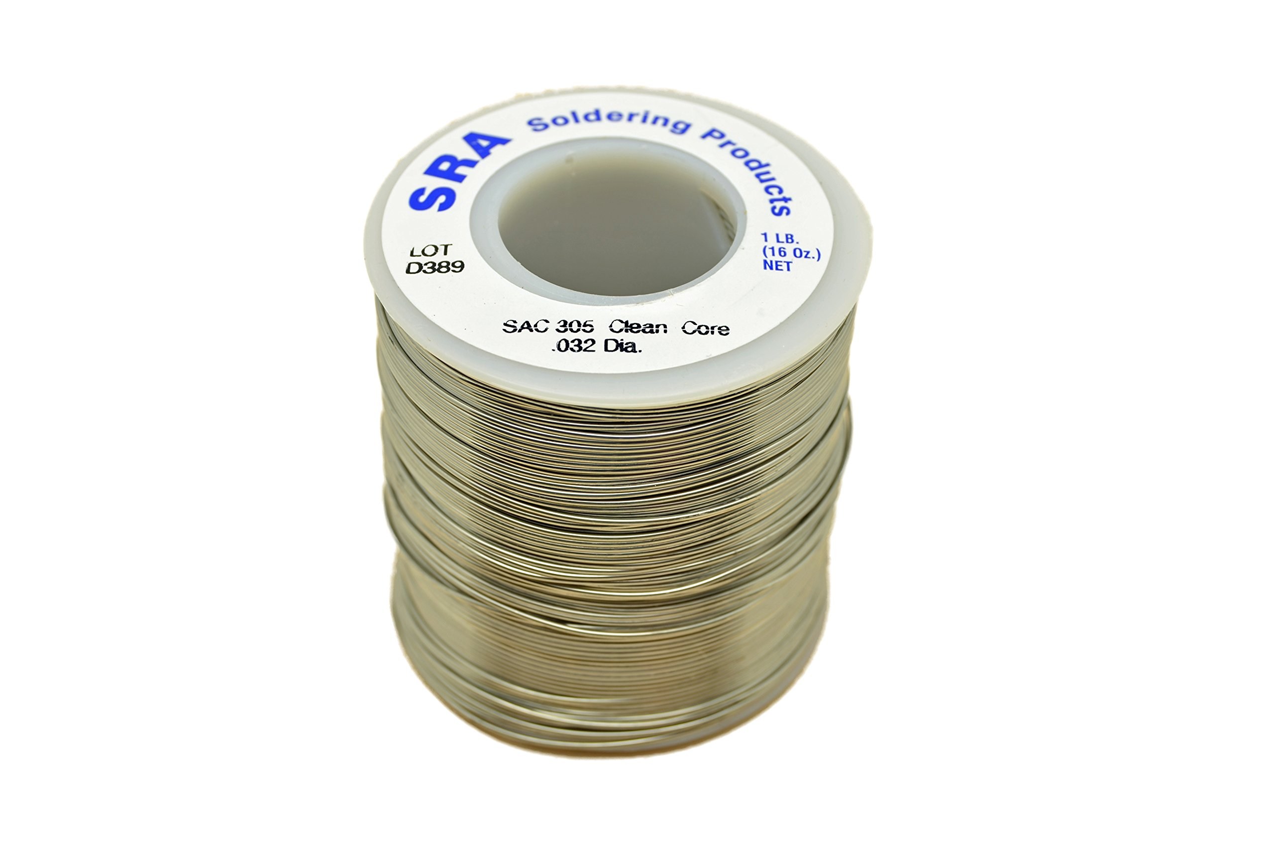 SRA Soldering Products WBNCSAC32 Lead Free No-Clean Flux Core Silver Solder, SAC305 .032-Inch , 1-Pound Spool