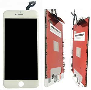 New White LCD Screen Replacement for iPhone 6s Plus 5.5 Inch with Tool kit and Direction Video and Instructions Model: A1634, A1687, A1699