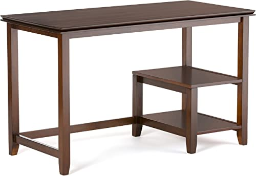 Simpli Home AXCHOL018 Artisan Solid Wood Contemporary 50 inch Wide Desk in Medium Auburn Brown