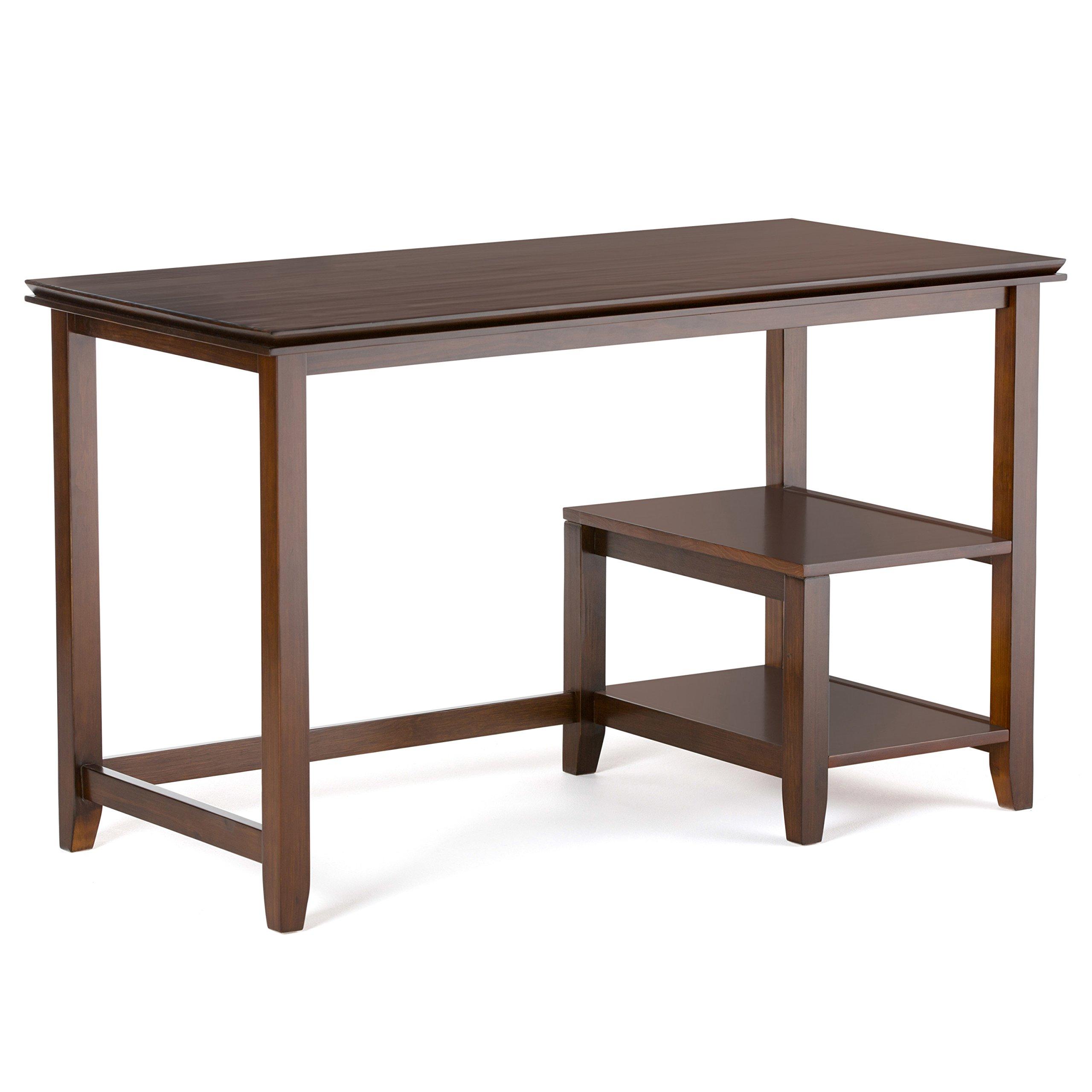 Simpli Home AXCHOL018 Artisan Solid Wood Contemporary 50 inch Wide Desk in Medium Auburn Brown by Simpli Home