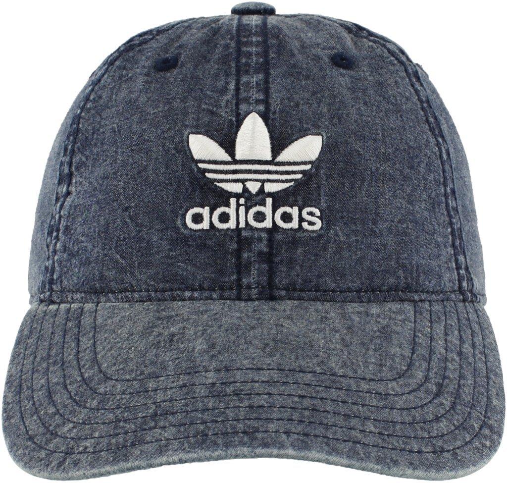 adidas Women's Originals Relaxed Adjustable Strapback Cap, Collegiate Navy Denim/White, One Size