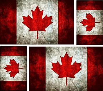 Accessoires & Fanartikel 10 X Aufkleber Auto Sticker Tuning Motorrad Autoaufkleber Fahne Flagge Kanada Auto & Motorrad: Teile