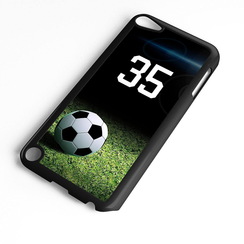 (タイドデザイン) TYD Designs iPod Touchケース 第6世代または第5世代のサッカーボール#6500に適合 ブラックプラスチックの選手の背番号を選択 カスタマイズ可 Number 28 IT56500B28 Number 28 ブラック B07KPRRPTR