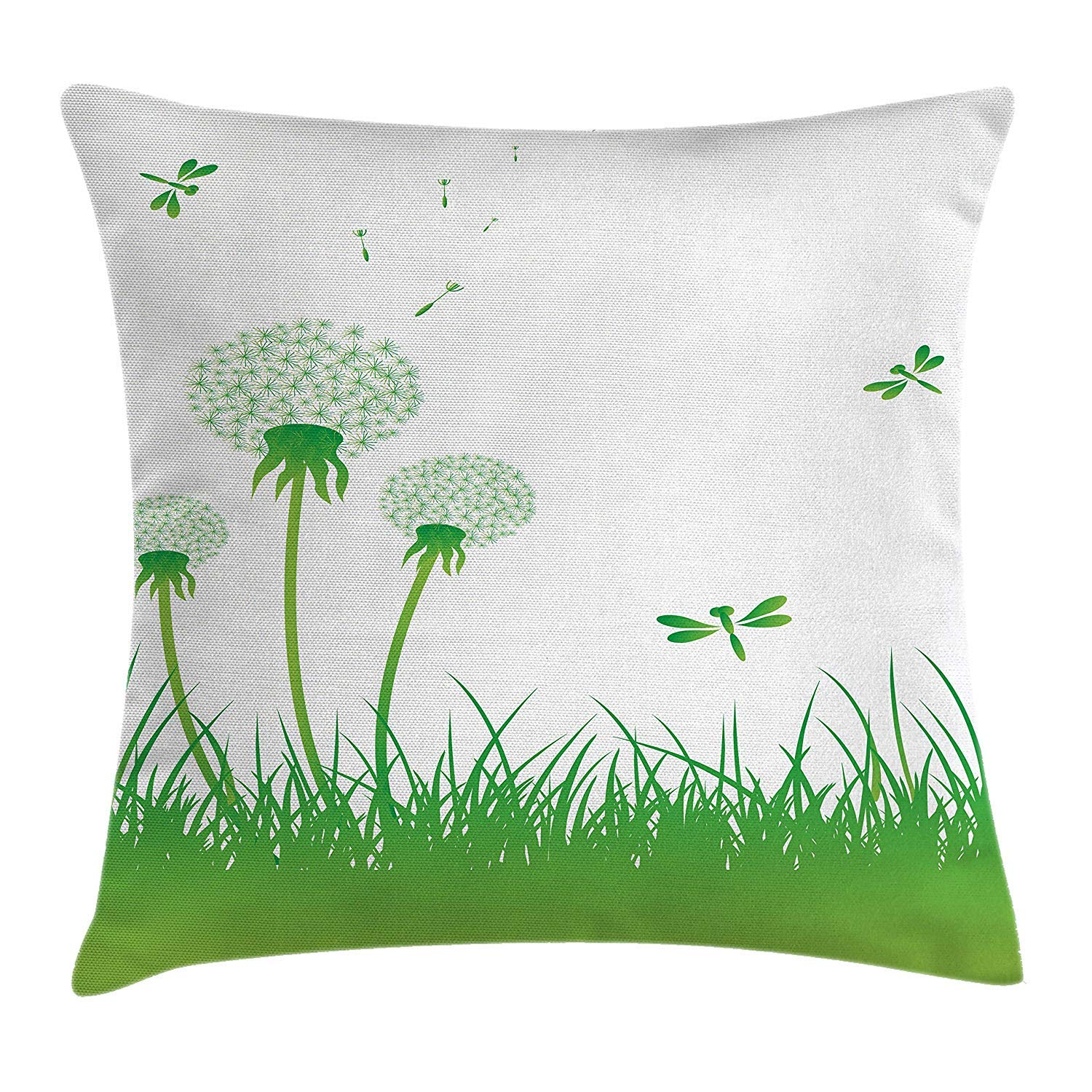 Dragonfly Throw Pillow Cushion Cover, Ecology Background ...