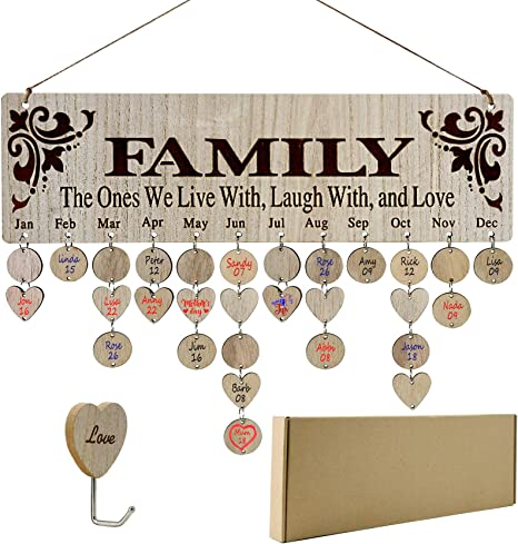 YuQi [Gifts for Mom] Family Birthday Calendar Wall Hanging