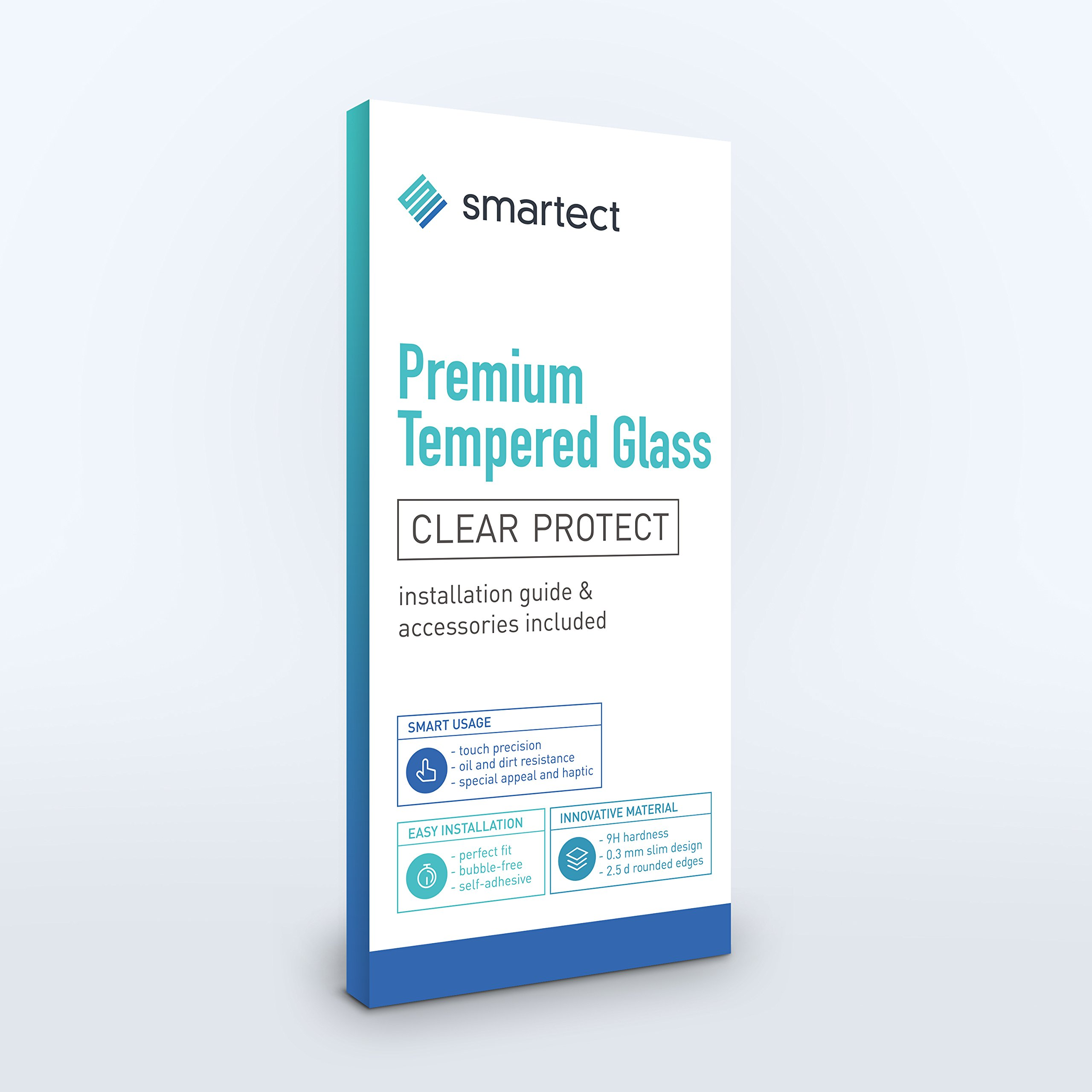 smartect [Arrière] Protector de Pantalla de Cristal Templado para iPhone SE / 5 / 5s / 5c Lámina Protectora Ultrafina de 0,3mm | Vidrio Robusto con Dureza 9H y Antihuellas Dactilares