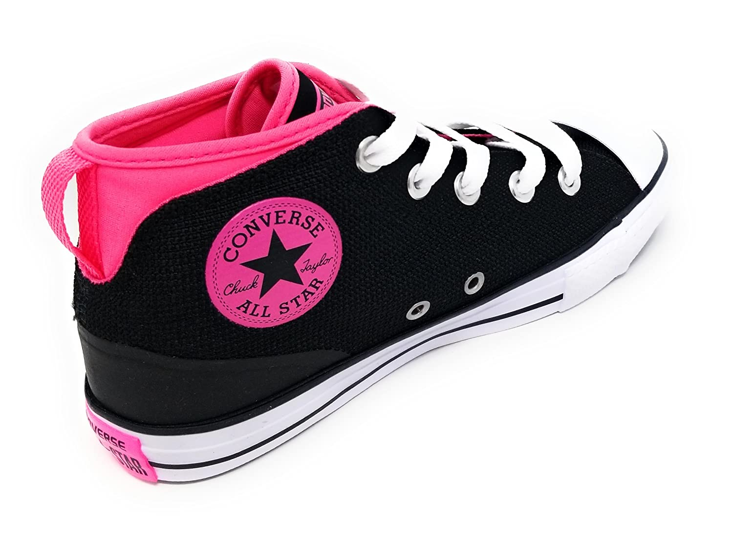 Converse Junior CTAS Syde Street Mid Black//Pink Pow//White